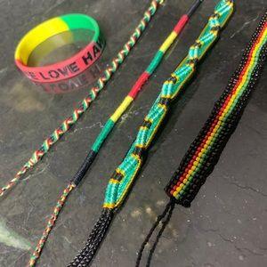 Jewelry - 🚨🆕 420 Rasta Jamaican Bracelet Set LOT OF 5